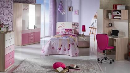 Comoda cu sertare Tineret Portivo Pink BELLONA Comoda cu Sertare 22PRT2101NUPK