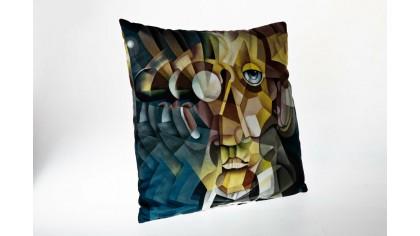 Fata de pernă imprimată cu model Cubism PRT01 45x45 - Galben DOQU Perne si Pilote 2Q9KKDK0000PRT010