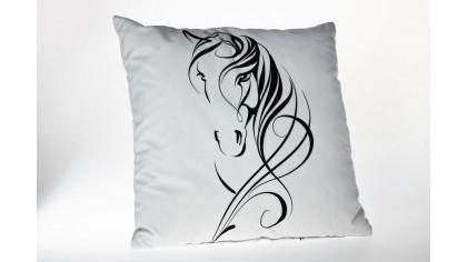 Husă de pernă imprimată cu model necolorat UNC02 45x45 - Negru DOQU Home textile 2Q9KKDK0000UNC020