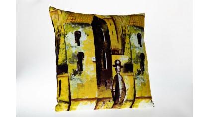 Husă de pernă cu model Melodi MLD02 45x45 - Galben DOQU Home textile 2Q9KKDK0000MLD020