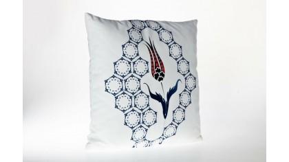 Husă de pernă imprimată cu model otoman OTM01 45x45 - Alb DOQU Home textile 2Q9KKDK000OTTM010