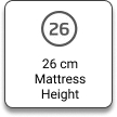 26 cm Mattress Height