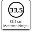 33,5 Mattress Height